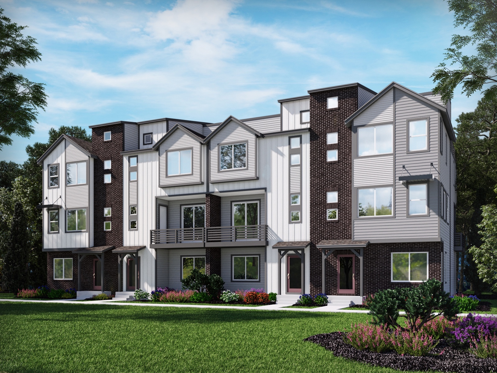 Meritage Homes Cameron Plan at Baseline With Rooftop Deck